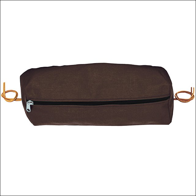 LARGE WEAVER HORSE TACK RECTANGULAR NYLON SADDLE CANTLE BAG BROWN