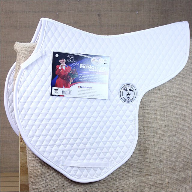 PROFESSIONAL CHOICE GINA MILES CONTOURED MONOFLAP ENGLISH HORSE SADDLE PAD