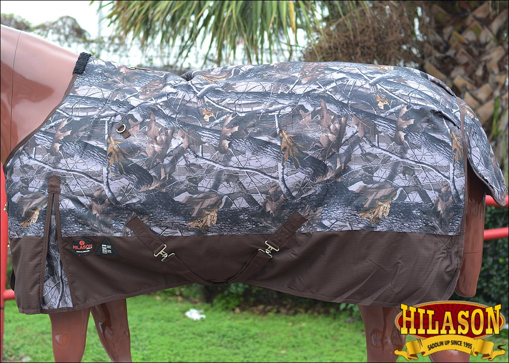 "75"" HILASON 1200D POLY RIPSTOP WATERPROOF HORSE COLD WINTER BLANKET CAMO PRINTS"