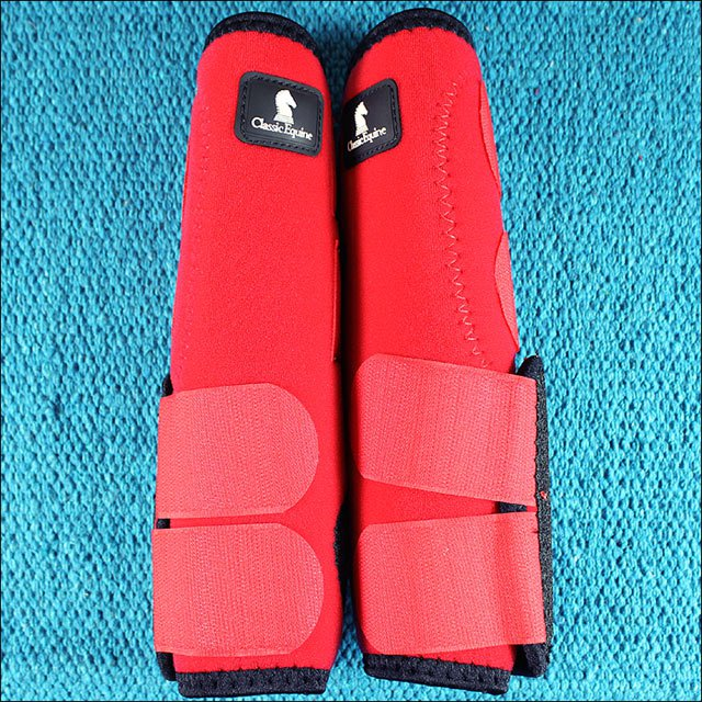 SMALL RED CLASSIC EQUINE LEGACY SYSTEM HORSE HIND LEG SPORT BOOT PAIR