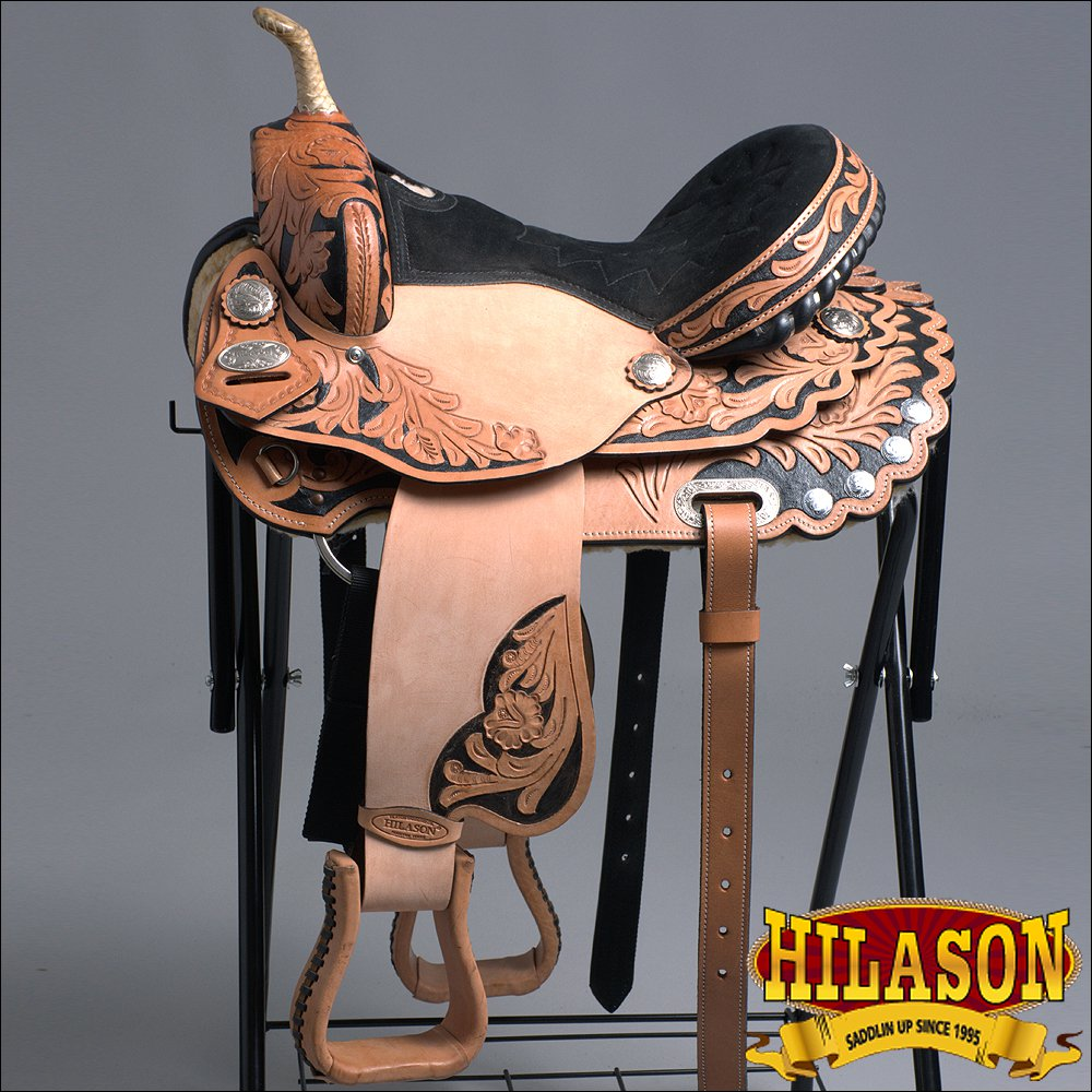 TT200V1-F HILASON WESTERN FLEX TREE BARREL RACING TRAIL RIDING SADDLE 15""