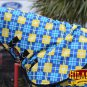 BLUE YELLOW HILASON 1200D RIPSTOP WATERPROOF POLY TURNOUT HORSE NECK WRAP