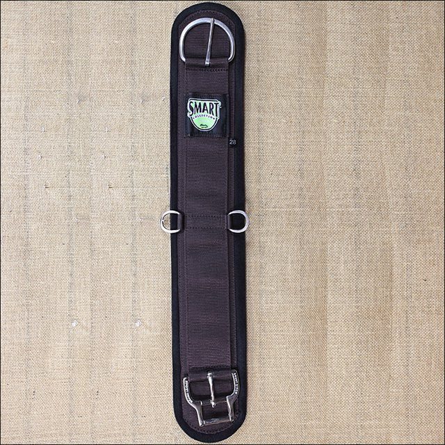 24 INCH WEAVER FELT LINED STRAIGHT SMART HORSE CINCH GIRTH ROLL SNUG BUCKLE