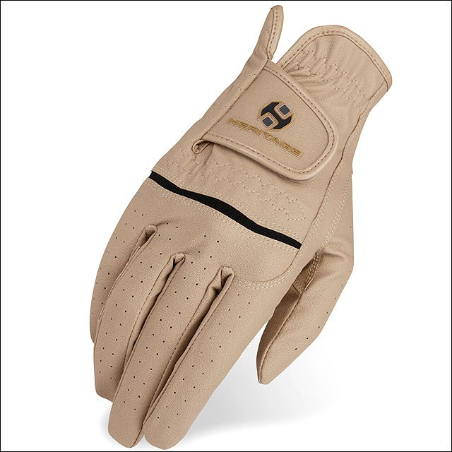 10 SIZE HERITAGE LEATHER PREMIER SHOW HORSE RIDING EQUESTRIAN GLOVE BEIGE