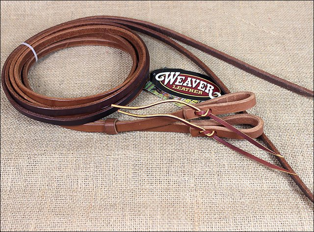 WEAVER LEATHER HORIZONS HORSE SPLIT REINS GOLDEN BROWN