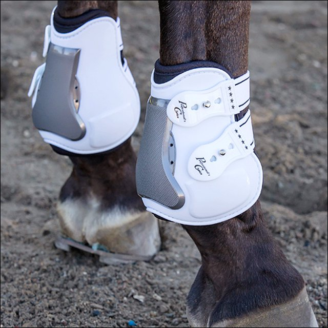 PROFESSIONAL CHOICE PRO OPEN REAR HORSE TENDON BOOTS W/ TPU FASTENERS WHITE