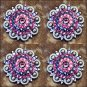 CN134F- 1 PINK PURPLE RHINESTONES BERRY CONCHO HEADSTALL SADDLE TACK COWGIRL
