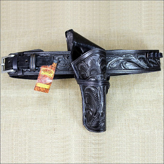 36in. CROSS DRAW TOOL CALIBER. 38 LEATHER WESTERN COWBOY GUN RIG HOLSTER BLACK