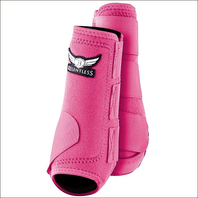 MEDIUM CACTUS ROPES RELENTLESS ALL AROUND HORSE LEG SPORT BOOT 4 PACK PINK