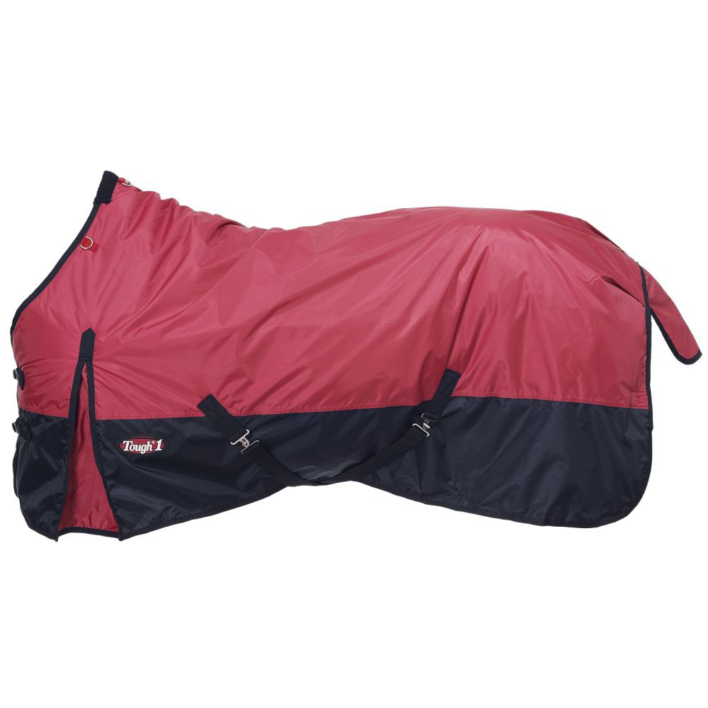 """69"""" TOUGH 1 420D WATERPROOF POLY TURNOUT HORSE BLANKET RED"""