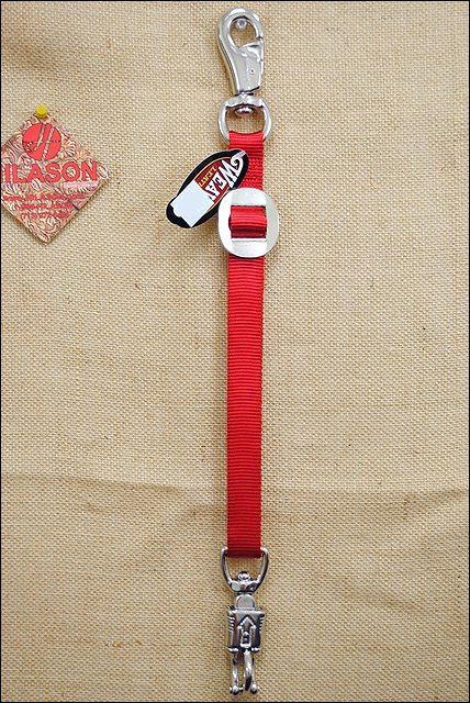WEAVER RED NYLON TACK HORSE TRAILER TIE NICKEL PLATED HARDWARE
