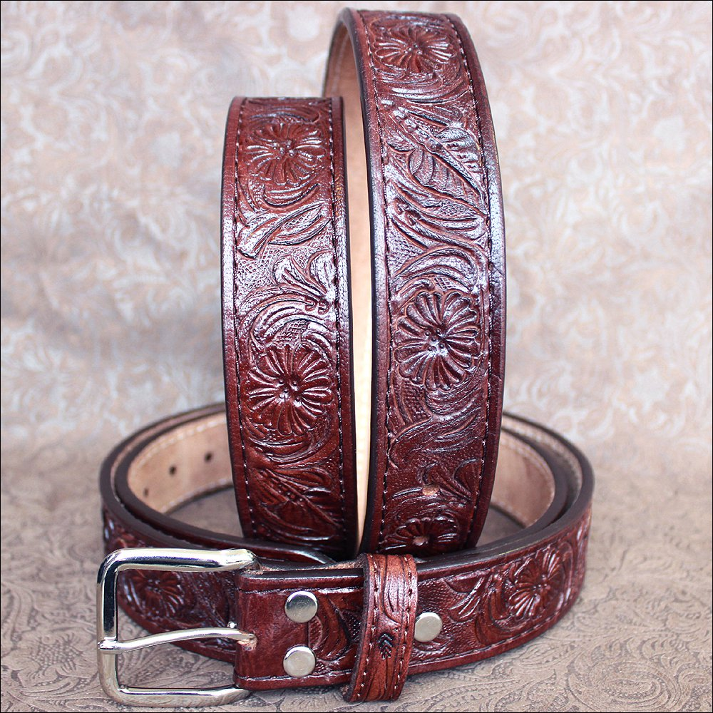 "44"" 101DB HILASON HANDMADE HEAVY DUTY WESTERN LEATHER MEN GUN HOLSTER BELT BROWN"