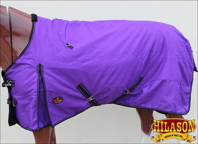 66 in HILASON 1200D RIPSTOP WATERPROOF POLY TURNOUT HORSE WINTER SHEET PURPLE