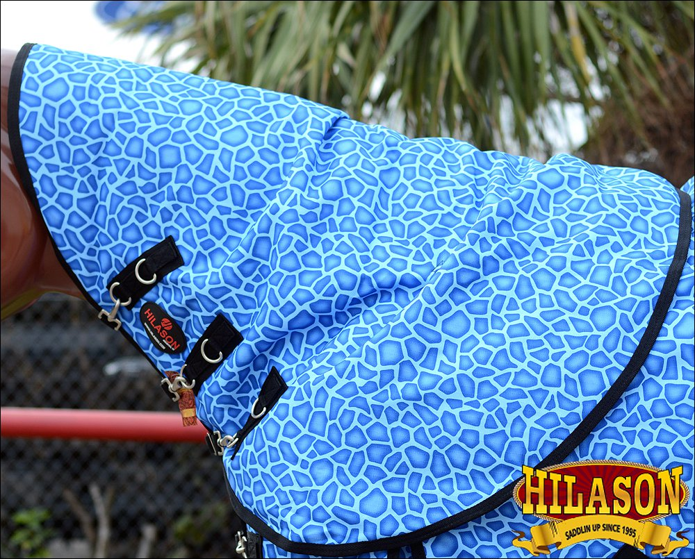 BLUE GIRRAFE HILASON 1200D RIPSTOP WATERPROOF POLY TURNOUT HORSE NECK WRAP