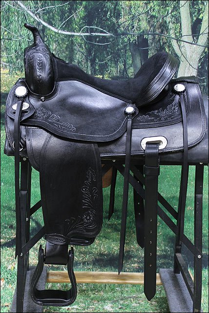 TO107BK-F HILASON TREELESS WESTERN LEATHER TRAIL PLEASURE HORSE RIDING SADDLE 15