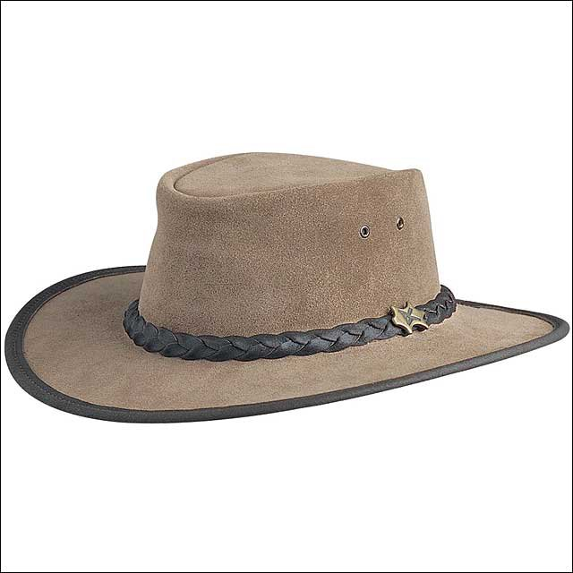 X LARGE CONNER HANDMADE BC HATS BUSH WALKER SUEDE AUSTRALIAN MOOSE LEATHER