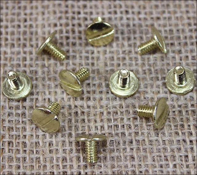 "3/8"" HILASON WESTERN HORSE SADDLE TACK CHICAGO SCREW BRASS 10 SET"