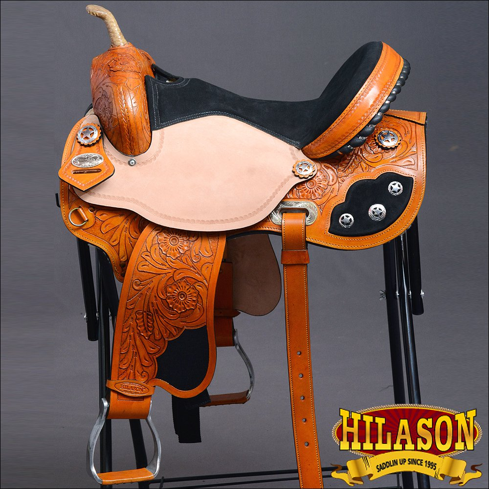 T203BEGF HILASON FLEX-TREE WESTERN BARREL RACING TRAIL PLEASURE RIDING SADDLE 17