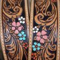JUSTIN TAN VANESSA VINE FLORAL TOOL LEATHER LADIES BELT WESTERN COWGIRL