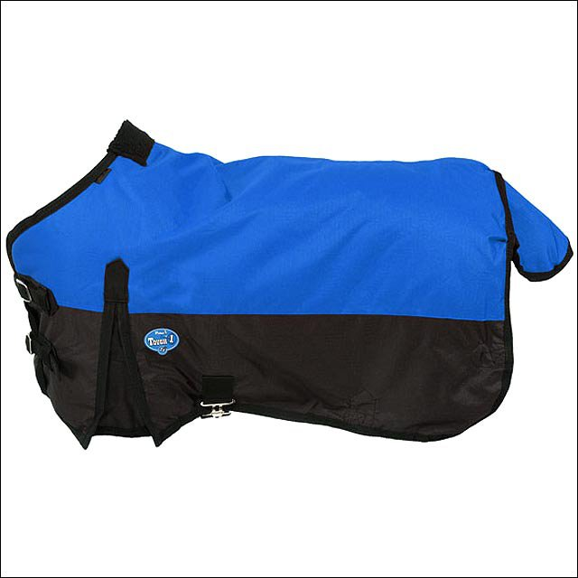 38 inch BLUE TOUGH-1 600D WATERPROOF POLY MINIATURE TURNOUT HORSE BLANKET