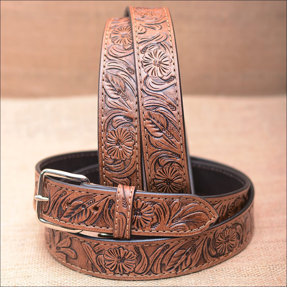 "60"" HILASON HAND MADE HEAVY DUTY BUFFALO HIDE LEATHER STICHED BELT"