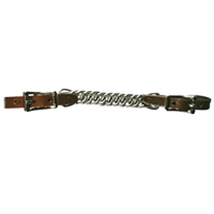 NEW CIRCLE Y CURB STRAP CHAIN 4 1/2 INCH FLAT CHAIN WALNUT