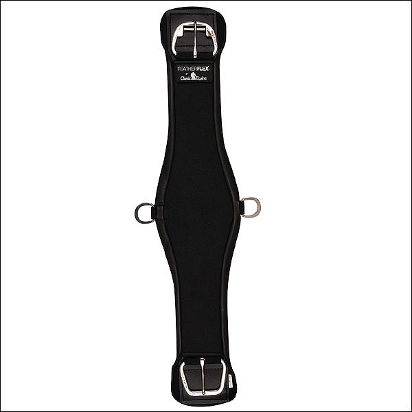 32 INCHES BLACK CLASSIC EQUINE FEATHERFLEX ROPER CINCH GIRTH HORSE