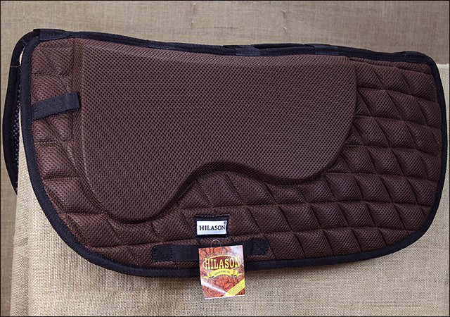 TA120F- HILASON WESTERN MEMORY FOAM SADDLE PAD WITH ANTI-SLIP BROWN