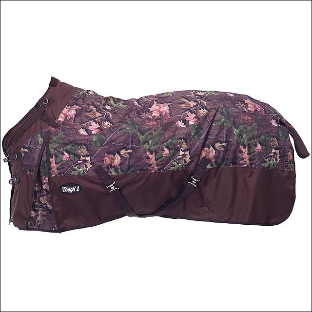TOUGH-1 TIMBER 1200D POLY SNUGGIT CAMOUFLAGE TURNOUT WINTER HORSE BLANKET 300GSM