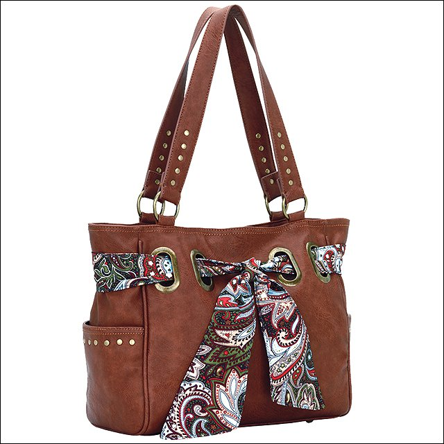 AMERICAN WEST BANDANA SIGNATURE LARGE CARRY-ALL TOTE SHOULDER HAND BAG