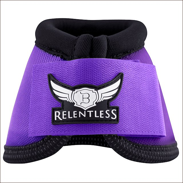LARGE CACTUS ROPES RELENTLESS STRIKEFORCE NYLON HORSE LEG BELL BOOTS PURPLE