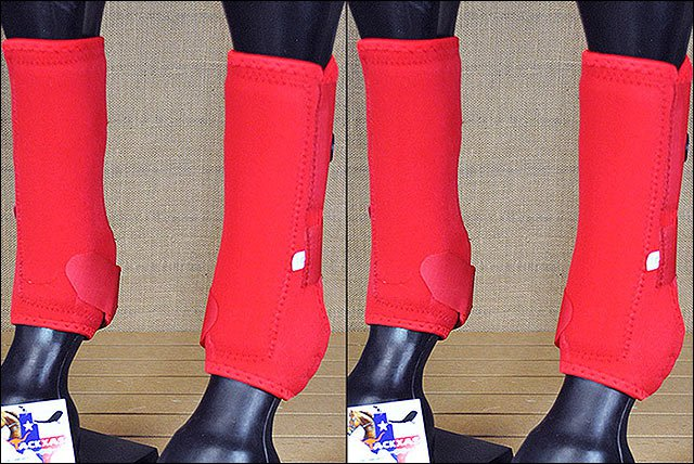 F10 MED TOUGH1 FRONT REAR LEG VENTED SPORTS MEDICINE HORSE SPLINT BOOTS RED
