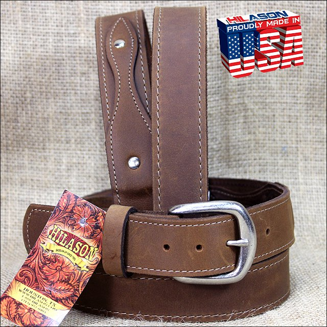 48IN. TAN 1.5in LEATHER RANGER BELT CLASSIC 3 PIECE STYLING MADE IN USA
