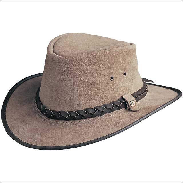 X LARGE CONNER HANDMADE BC HATS BAC PAC TRAVELLER SUEDE AUSTRALIAN LEATHER MOOSE