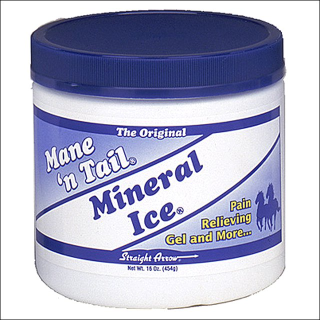 STRAIGHT ARROW HORSE MANE N TAIL MINERAL ICE PAIN RELIEF GEL 1LB 16OZ