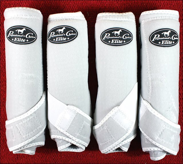 MED PROFESSIONAL CHOICE SPORTS MEDICINE HORSE BOOTS WHITE 4 PACK