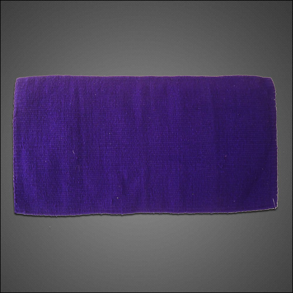HILASON WESTERN ACRYLIC WOOL SADDLE BLANKET HORSE RODEO SOLID COLOR PURPLE