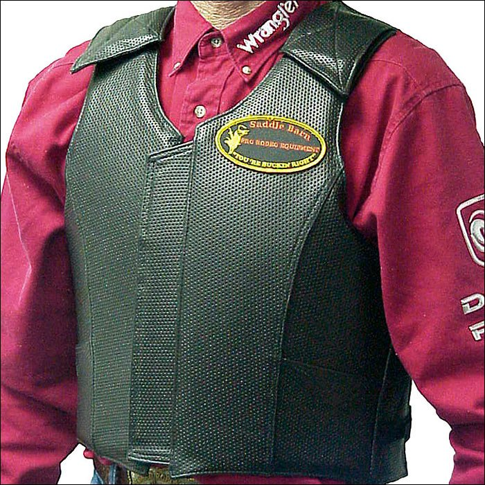 SMALL SADDLE BARN EQUIPMENT ROUGH STOCK PRO RODEO PROTECTIVE VEST GEAR