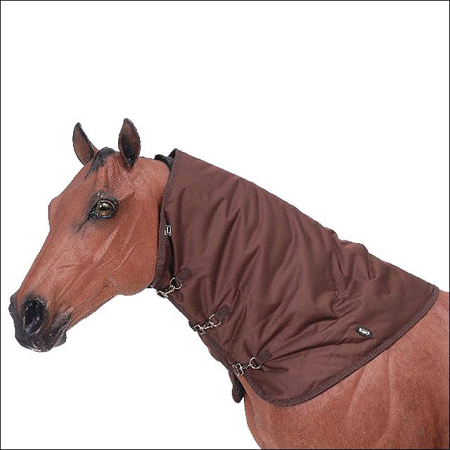 LARGE BROWN TOUGH-1 600D WATERPROOF POLY WINTER HORSE NECK COVER
