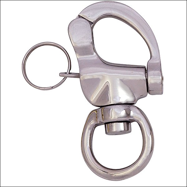 HILASON WESTERN TACK 3/4in x 35/8in STAINLESS STEEL QUICK RELEASE PANIC SNAP