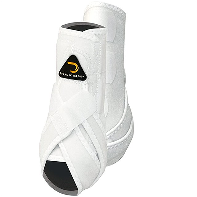MEDIUM CACTUS DYNAMIC EDGE HORSE FRONT LEG PROTECTION SPORT BOOTS PAIR WHITE