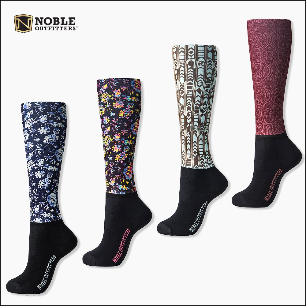 NOBLE OUTFITTERS WOMENS LEG PRINTED PEDDIES OVER THE CALF