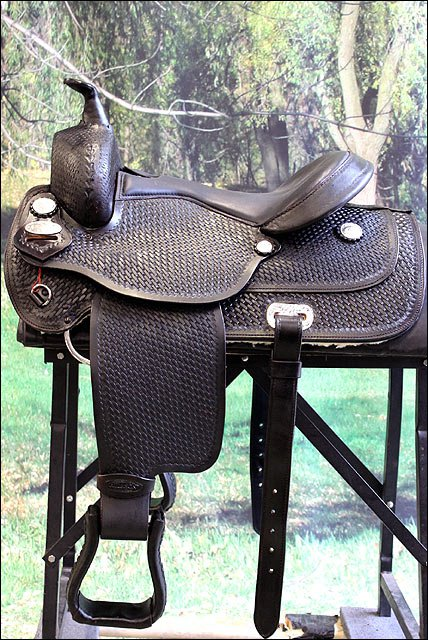 DF101DB HILASON WESTERN DRAFT HORSE TRAIL PLEASURE RIDING ENDURANCE SADDLE 16 17