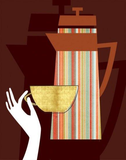"""11x14"""" Matted Retro Coffee Mug"""