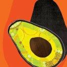 Avocado on orange background 8x10 kitchen art print