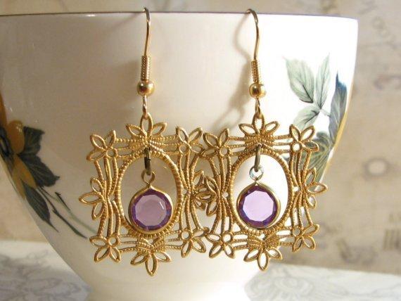 Gilded Portrait Earrings