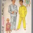 Boy's Pajamas in Two Lengths Simplicity #1434 Sewing Pattern