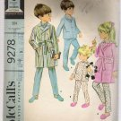 Boys' or Girls' Robe and Pajamas McCalls's #9278 Sewing Pattern