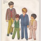 Incomplete Boys' Jacket, Pants and Reversible Vest Simplicity #9651 Sewing Pattern