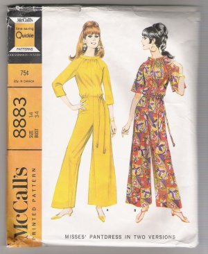 Misses' Pantdress in Two Versions McCall's #8883 Sewing Pattern